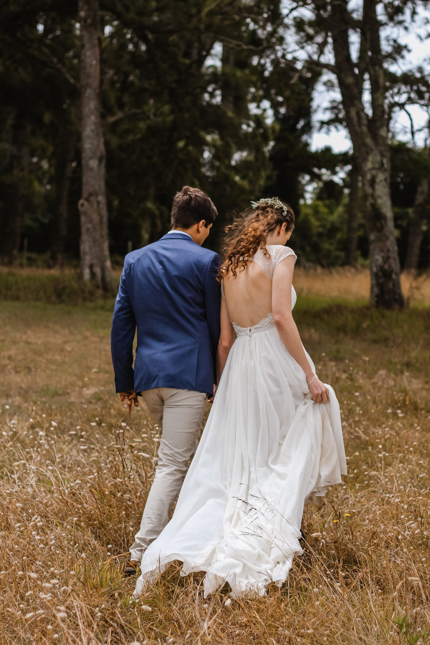 Elopement Wedding Ceremony Bride and Groom