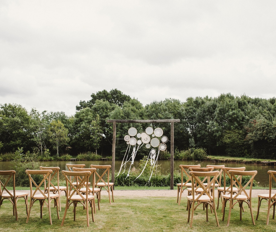lakeside wedding ceremony area