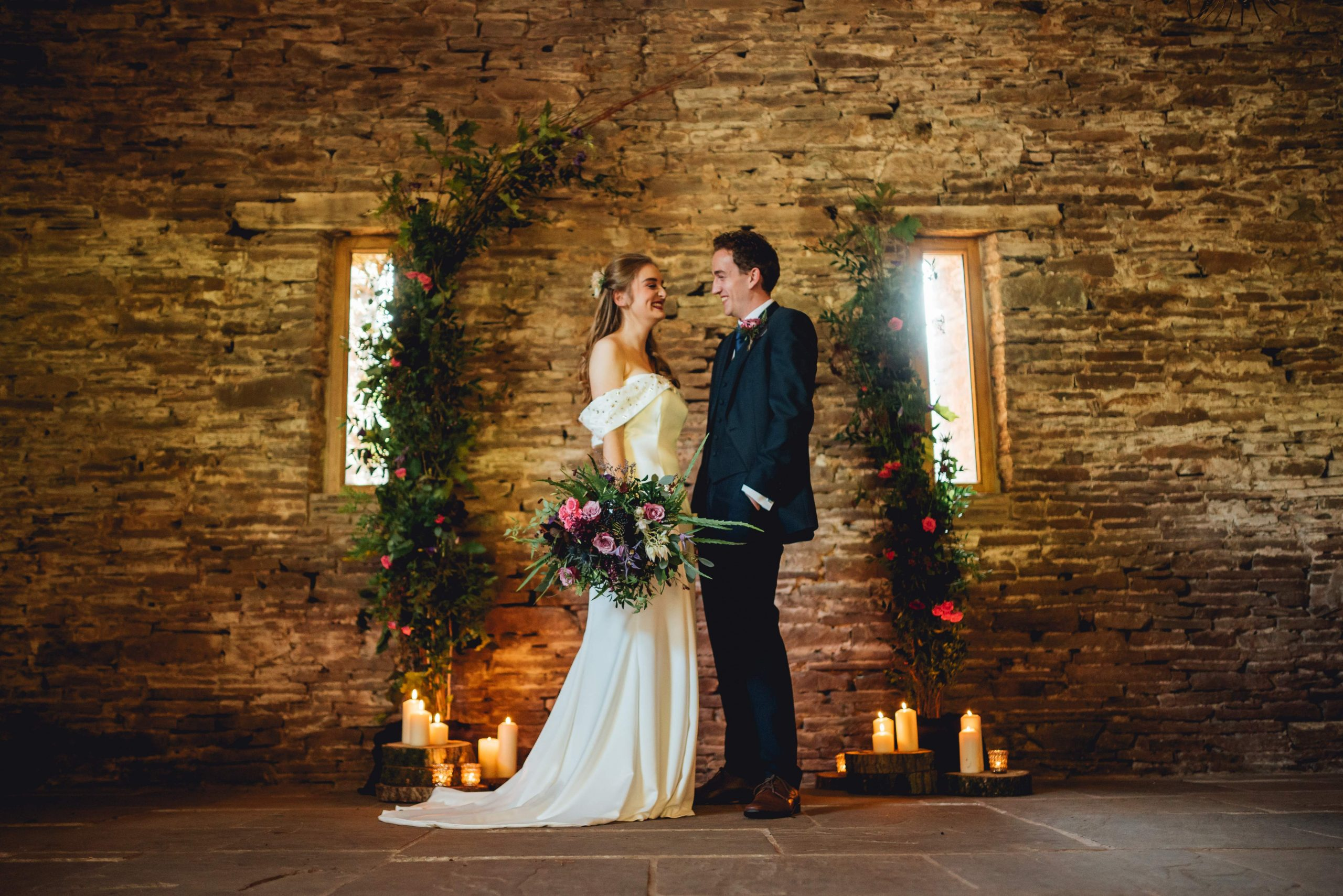 Bride and Groom at Lower House Farm